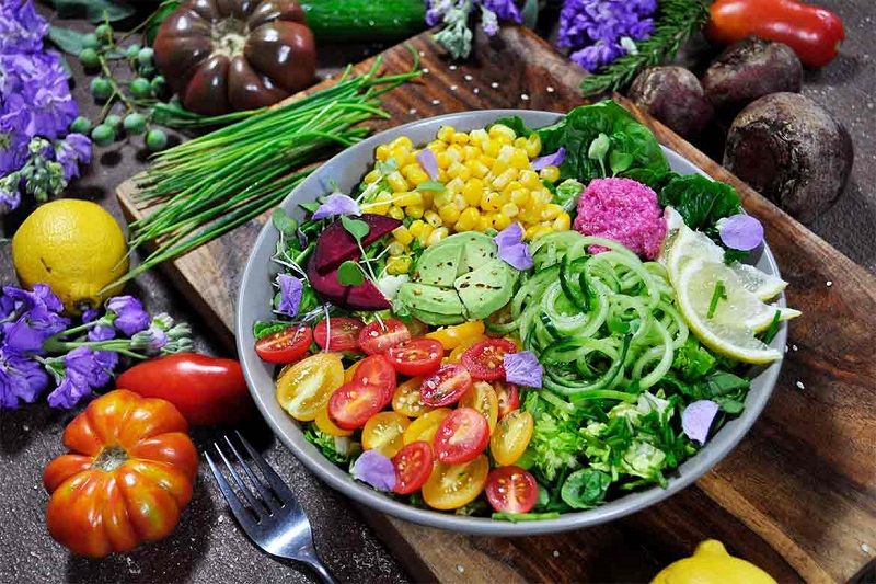 After veganism? The plant based diet with vegetables and integrals
